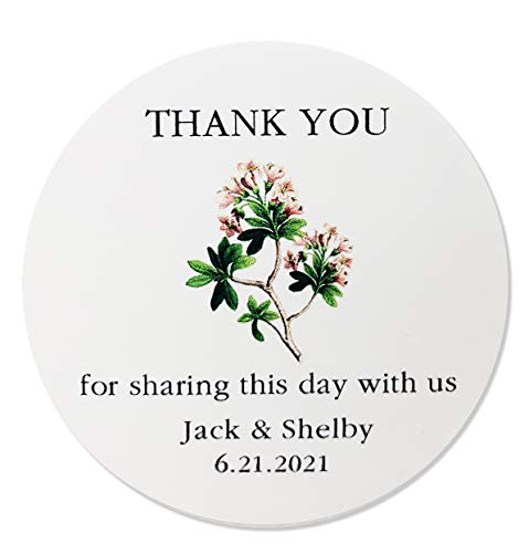 Personalized Apple Blossom Wedding/Party Favor Labels/Stickers - Set of 25]()