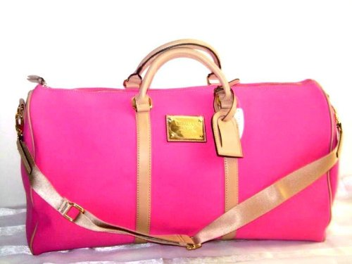 victorias-secret-thick-pink-canvas-duffle-gym-bag-or-carry-on-bag
