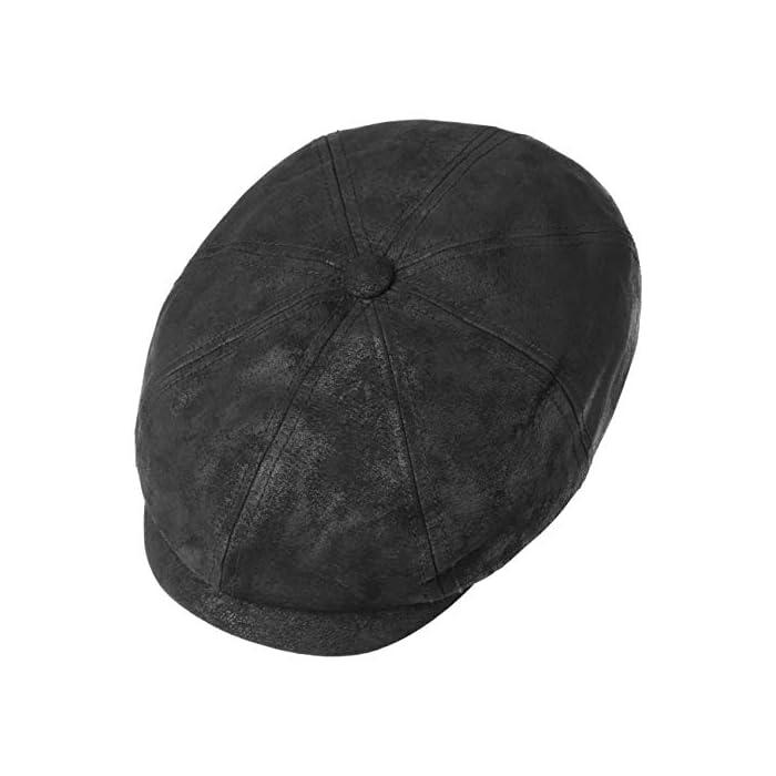 410zBpDlQEL 100 % CUERO AUTÉNTICO // Esta estilizada gorra de caballero está fabricada con cuero vintage seleccionado (piel de cerdo) y destaca por la calidad de su confección y su diseño FORRO DE ALGODÓN 100 % // Esta gorra plana de cuero de primera categoría debe su excelente comodidad a un forro de algodón de calidad excelente 100% Cuero