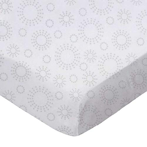 SheetWorld Fitted Sheet (Fits BabyBjorn Travel Crib Light) - Grey Dot Circles - Made In USA