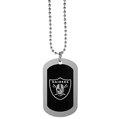 NFL Oakland Raiders Chrome Tag Necklace, 26