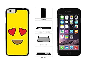 Bright Yellow Heart Eyes Smiley Face Plastic Phone Case Back Iphone 5/5S