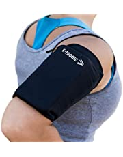 E Tronic Edge Phone Holder for Running - Cell Phone Arm Bands with Reflective Logo - Phone Strap Armband Fits iPhone and Android - Use for Running, Walking, Hiking, and Biking