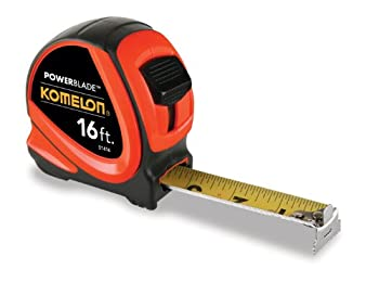 Komelon 51416 16-Foot x 1.06-Inch ABS PowerBlade Tape Measure