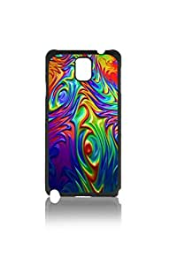 Psychedelic Flames Pattern Hard Durable Cover Case for Samsung Galaxy Note 3