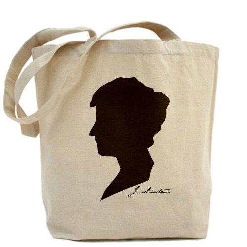 CafePress–Jane Austen, Borsa di tela naturale, panno borsa per la spesa