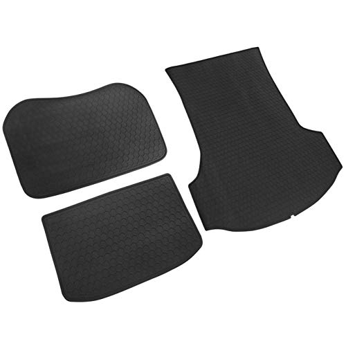 iallauto Trunk Liner Custom Fit 2017 2018 2019 Tesla Model 3 All Weather Protection Heavy Duty Rubber Front Rear Cargo Mat - Odorless and Durable