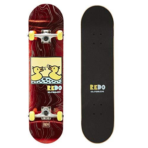 ReDo Skateboard 31″ x 7.675″ Eye Candy Pop Barking Ducks Complete Skateboard for Boys Girls Kids Adults