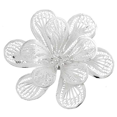2'' Gorgeous 925 Sterling Silver Flower Filigree PIN brooche YE-1568