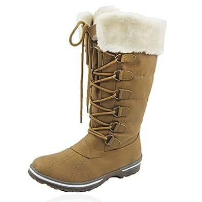 Amazon.com | Comfy Moda Women's Winter Ice Snow Boots Cold