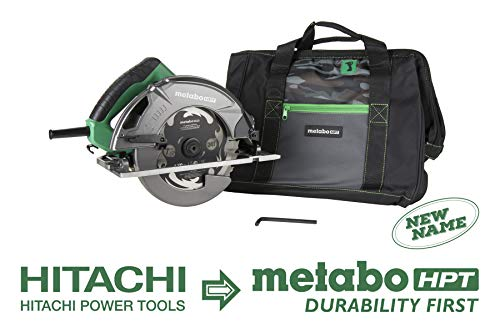 Metabo HPT 7-1/4″ Circular Saw Kit, 6,000 Rpm, 15-Amp Motor, Integrated Dust Blower, 24T Premium Framing/Ripping Blade, Single Handed Bevel Adjustment (C7SB3)