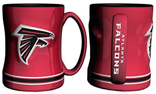 Atlanta Falcons Ceramic (NFL Sculpted Coffee Mug, 15 Ounces, Atlanta)