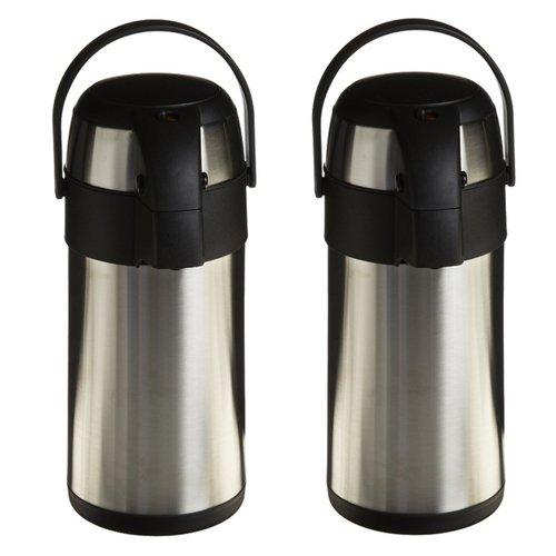 Genuine Joe GJO11961 Stainless Steel High Capacity Vacuum Airpot with Removable Lid, 3 Liter Capacity (2 Pack) by Genuine Joe