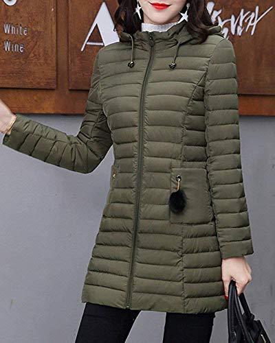 Épais Rouge D'hiver Pour Capuche Taille Duvet Oudan Femmes Long Xxx À Vineux coloré large Chaud Vert Manteau En 0z4w7qSvw