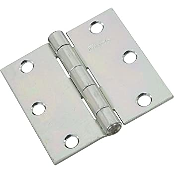 """National Hardware N146-373 ZINC 3/"""" NON-REMOVABLE PIN HINGES NEW 2 PK"""