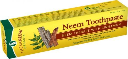 Price comparison product image Theraneem Organix Herbal Neem Toothpaste,With Cinnamon, 4.23 Ounce (Pack of 2)
