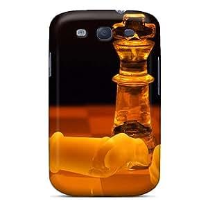 EAb586RjZN Sharongg 3d Ajedrez Durable Galaxy S3 Tpu Flexible Soft Case