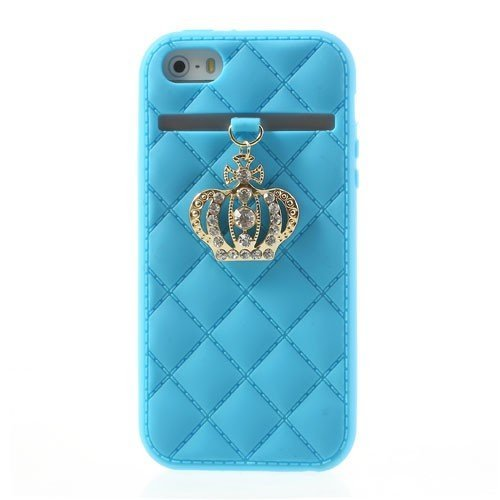 JBG Sky Blue Crown Style Silicone Case for iPhone 4 4G 4S