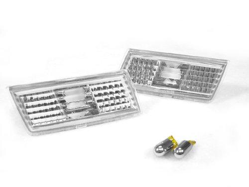 - REVi MotorWerks Clear Bumper Side Marker Lights + Chrome Amber Bulbs by DEPO fit for 2005-2010 Chrysler 300/300c SRT8