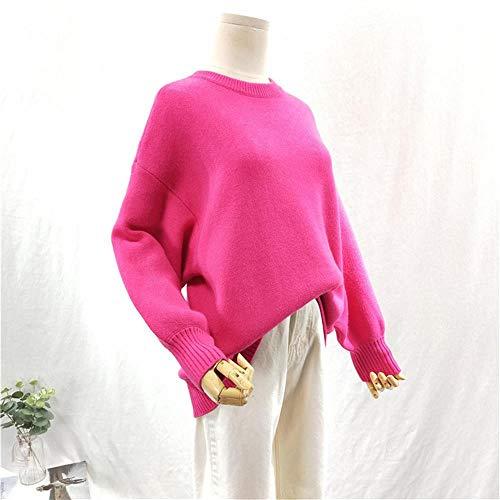 Caramella Lunga Invernale Color Girocollo Spricen Manica Pullover Corta Donna 0wnRvnBOqA