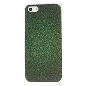 Green Leaves Pattern PC Hard Case for iPhone 5/5S