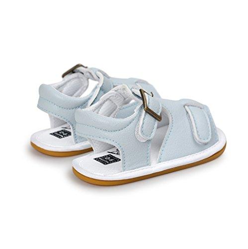 Bebé Prewalker Zapatos Auxma Zapatos de las sandalias de la cuna de los muchachos de los Azul