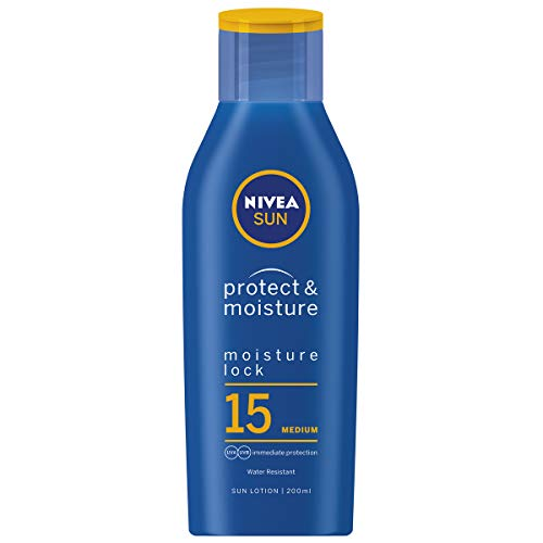 Nivea Sun Moisturising Sun Lotion Medium SPF15 With Immediate UVA/UVB Protection - 200ml