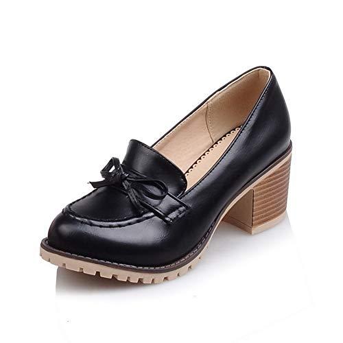 AN EU Sandales Femme Compensées 36 Noir 5 DGU00435 Noir CpCqwxSP