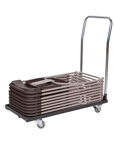 Classic Series Basic Folding Chair Storage and Transport Cart for Plastic, Resin, and Wood Folding Chairs