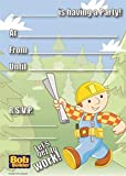 Bargain World Bob The Builder Invitations (20/pkg) (with Sticky Notes)