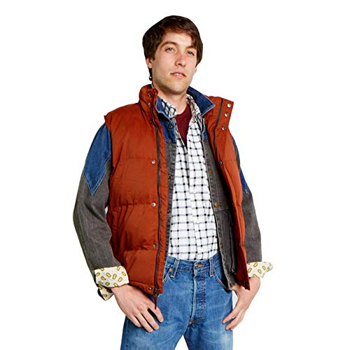 Largemouth Men's Marty McFly Puffer Vest Rust (Small, Rust) -