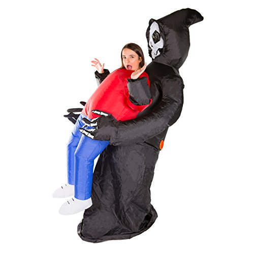 Bodysocks - Inflatable Grim Reaper Blow Up Scary Halloween Adult Fancy Dress (Inflatable Costume)