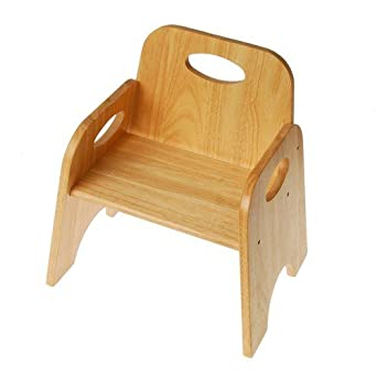 Classic Toddler Wooden Chair With 6u0026quot; High Seat And Hand Holds