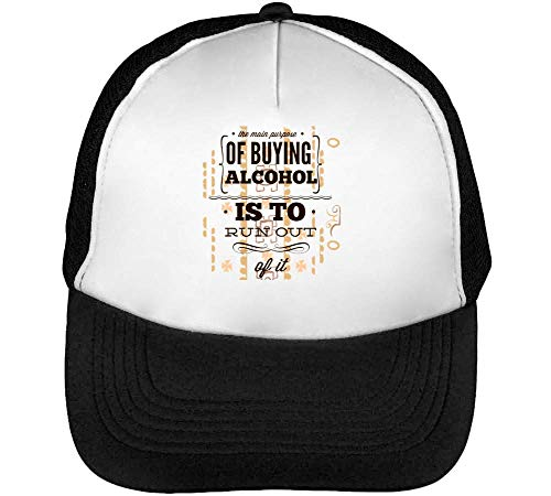 Hombre Beisbol Blanco Gorras Purpose Main Snapback Of Alcohol Negro qza6nw4In