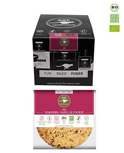 Cookie (Vanilla, 15x 40g) by eat Performance (Organic Biscuit, Paleo, no Added Sugar, Gluten Free, Lactose Free, superfood)