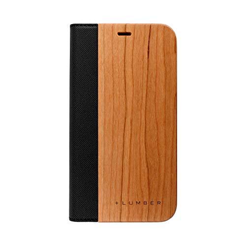 してはいけません嘆願インタラクション+LUMBER by Hacoa 手帳型の木製 iPhoneXR 専用ケース iPhone XR FLIP CASE [ICエラー防止シート付き] (チェリー)
