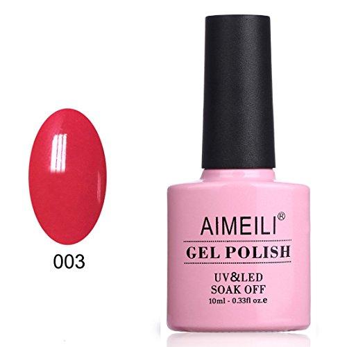 AIMEILI Soak Off UV LED Gel Nail Polish - Red Beam  10ml