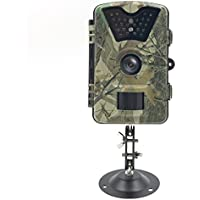 AIQIU Trail Game Camera, Waterproof 1080P 12MP HD Wildlife Hunting Camera Infrared Night Vision Motion Activated Scouting Cam with 0.5s Trigger Time 2.4 LCD Screen 24pcs IR LEDs & 90° Detection Angle