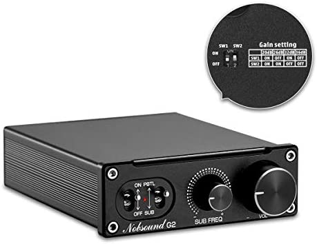 Nobsound G2 Subwoofer Amplifier Mono Power Amp PBTL BTL Bridge 100W Mini Sub Amp Home Theater