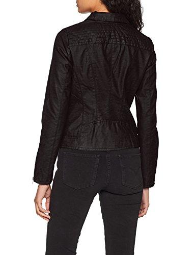 Cc Black Nero Biker Otw Faux black Leather Giacca Onlsaga Only Donna W6q71gIOn