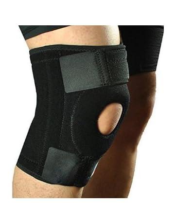 623958ed42 DEALBOX Neoprene Patella Black Elastic Knee Support, Brace Fastener, Gym  Sport High Quality Neoprene