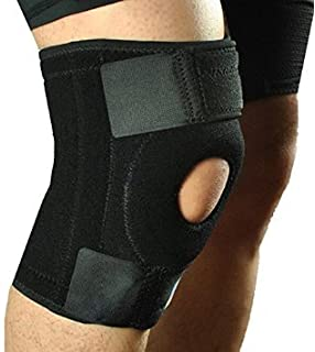 c01116710f DEALBOX Neoprene Patella Black Elastic Knee Support, Brace Fastener, Gym  Sport High Quality…