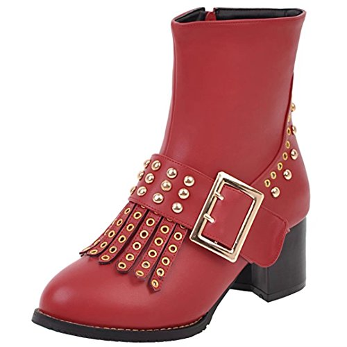 AIYOUMEI WoMen Classic Boot Red