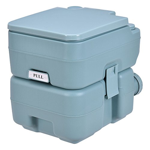 20L Easy Carry & Clean Portable TravelFlush Toilet Greenish Gray Potty by FDInspiration (Image #6)