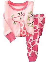 Girls Pajamas Children Clothes Set Deer 100% Cotton...