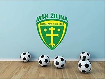81c1a1a821 lunaprint MSK Zilina Slovakia Soccer Football Sport Home Decor Art Wall  Vinyl Sticker 63 x 53 cm  Amazon.es  Hogar