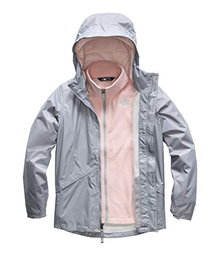 The North Face Kids Girl's Stormy Rain Triclimate (Little Kids/Big Kids) Mid Grey X-Large ()