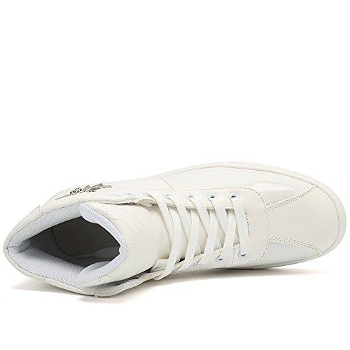Flat up Vamp Bianca Moda Il da Cricket per Sneaker Lace Tempo Vamp Scarpe Splice Scarpe Splice Heel da Uomo Libero xXSH84q
