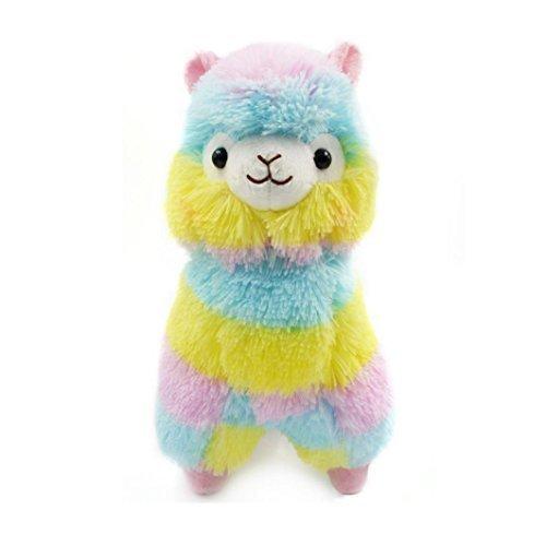 Muxika 13CM Colorful Alpaca Llama Arpakasso Soft Plush Toy Doll Gift Cute Toys (Colorful)