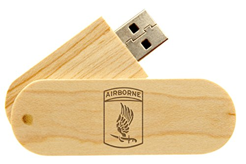 16 Gigabyte USB Flash Drive Maple NDZ Army 173rd Airborne Division Emblem (Airborne 173rd Division)